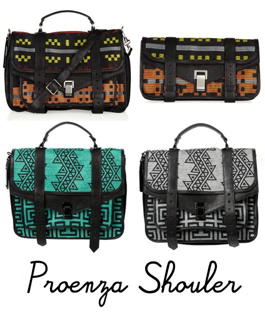 c72432161 Marcas como Proenza Shouler e a L.A.M.B., de Gwen Stefani, apostaram na  tendência étnica, com bolsas que trazem a referência em suas estampas e  seguem ...