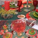 Idéias para Decorar a Mesa de Natal: vermelho e verde