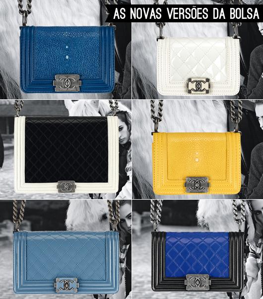 c45db38b5335f Falando das bolsas, nessa temporada elas ganharam novos detalhes e cores,  mais vivas e com novas versões bicolores. O bacana mesmo é que a Chanel  também ...