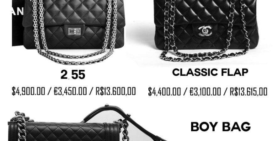 Os Preços da sua Bolsa Chanel – Onde é melhor comprar  0a9175ad106