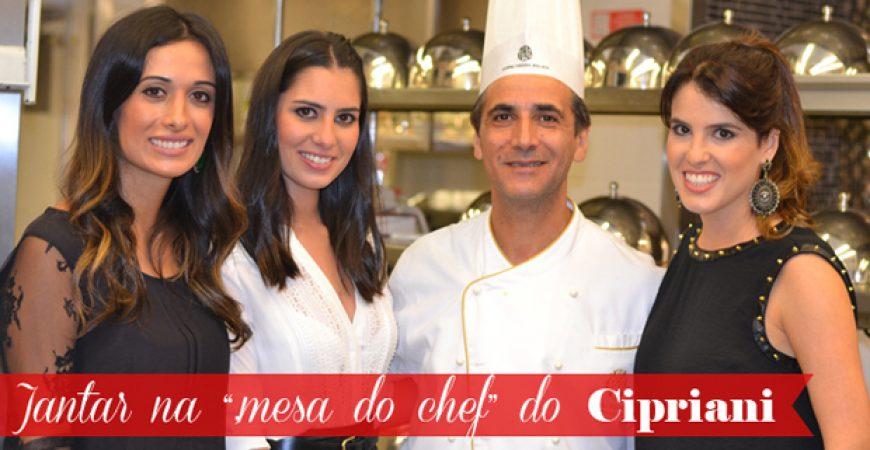 """Dica Rio de Janeiro """"mesa do chef"""" Restaurante Cipriani"""