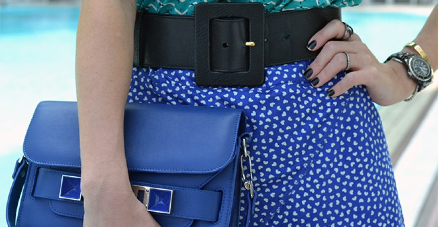 Look do Dia: Mix de Estampas Azul e Verde