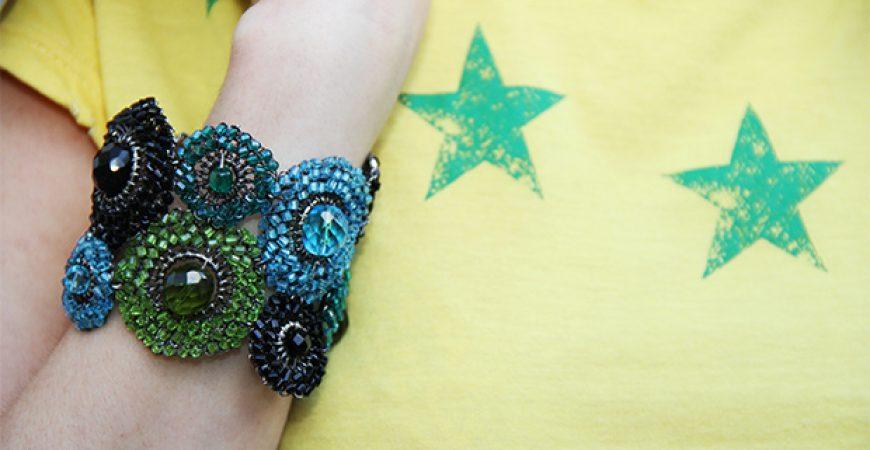 Look do Dia: Verde, Amarelo, Azul e Branco