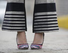 Look do dia: Calça Listrada – Milão Fashion Week AW16