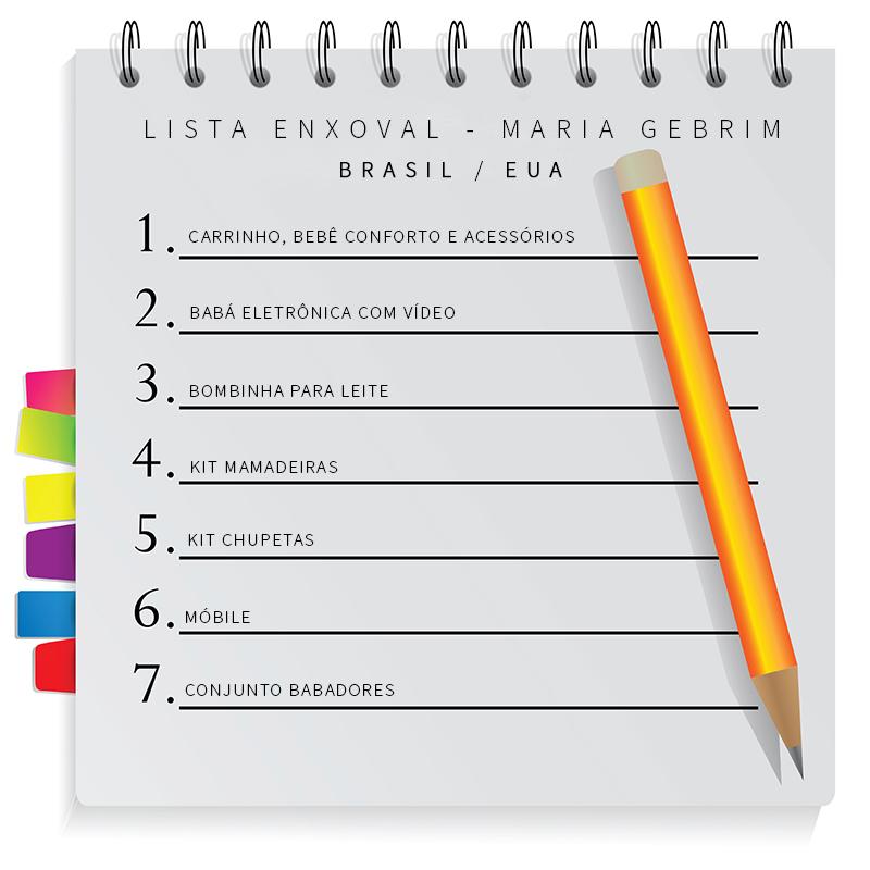 Suficiente lista de enxoval | | Diário de Acessórios NL01